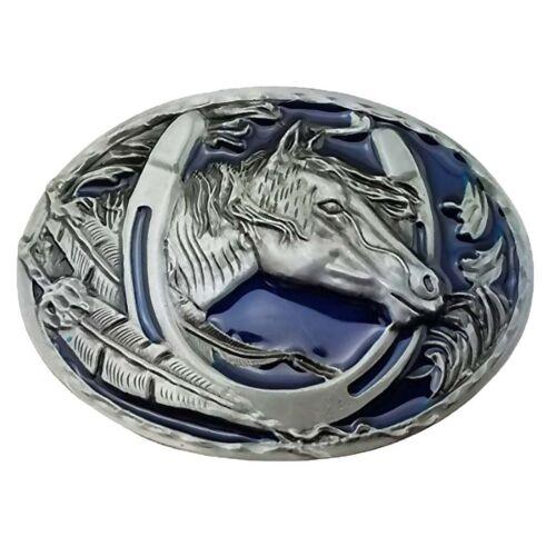 Horseshoe Horse Head Pony Club Jeans Belt Buckle Jeans Cowboy Western Men