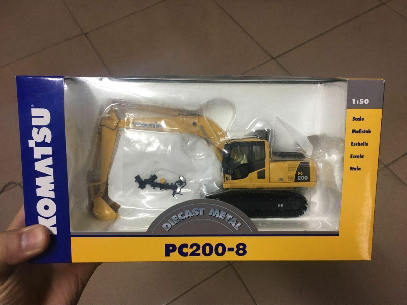 Rare   NZG 804 Komatsu PC200-8 Excavator 1 50 Scale DieCast Metal Model