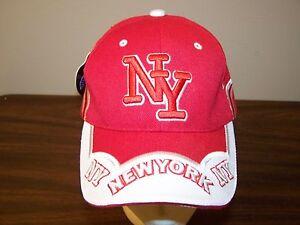 Image is loading New-York-Red-Baseball-Strapback-Cap-Hat-EX- 4dda035ba