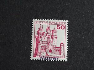 Bundesrepublik Mi.-Nr. 916 Burgen und Schlösser 50 postfrisch als Mustermarke - Deutschland - Bundesrepublik Mi.-Nr. 916 Burgen und Schlösser 50 postfrisch als Mustermarke - Deutschland