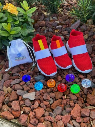 Sonic The Hedgehog Kid Shoes Custom Made Toddler and Youth Sizes