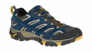 Men-039-s-Merrell-Moab-2-Vent-Hiking-Shoe-Olive-Blue-Suede-Mesh