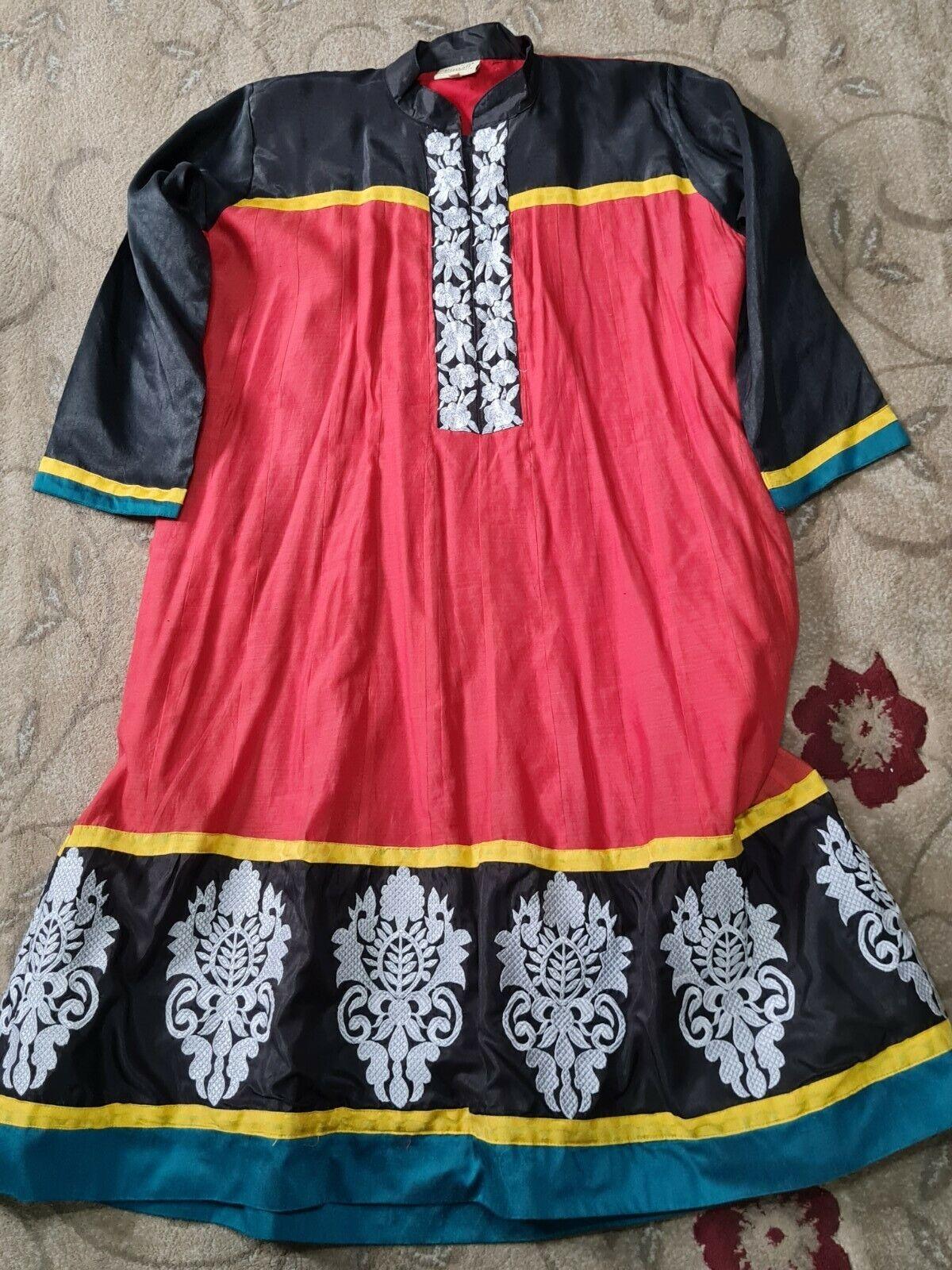 Salwar Kameez Anarkali dress - Rupali brand - red and black colour- XXL size