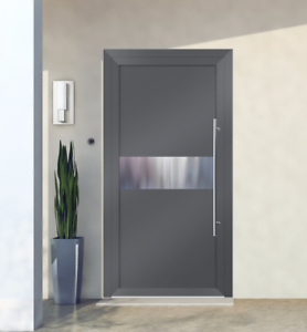 Image is loading Entrance-door-with-aluminium-Schuco-system-model-exclusive- & Details about Entrance door with aluminium Schüco system model exclusive doors EXD 003