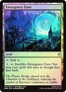 Emergence Zone FOIL War of the Spark PLD-SP Land Uncommon MAGIC CARD ABUGames