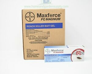 Details about 12 Tubes of Maxforce FC Magnum Roach Killer Bait Gel w 6 Plungers and Tips