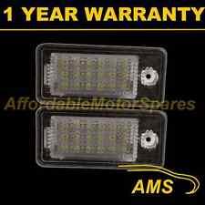 2X FOR AUDI A3 A4 A6 A8 S3 S4 S6 S8 6500K 18 WHITE LED NUMBER PLATE LIGHT LAMP