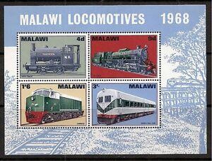 Malawi 1968 Locomotives miniature sheet