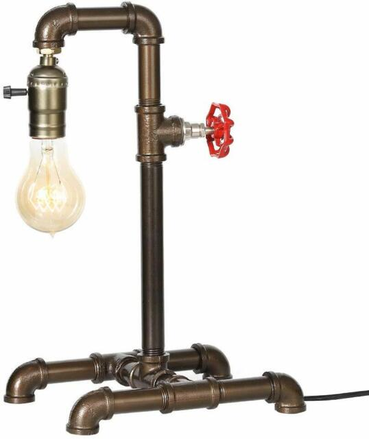 Steampunk Industrial Reading Robot Table Lamp with Switch Water Pipe Desk Light