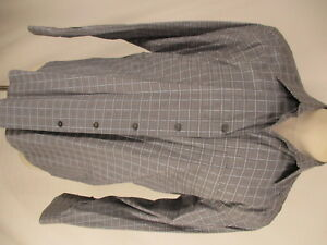 Zanella-Floyd-Mens-Grey-Plaid-Long-Sleeve-Cotton-Shirt-L-Italy-Made