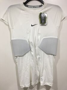 3e751170 Image is loading NIKE-Pro-Hyperstrong-Padded-Football-Compression-Shirt- White-