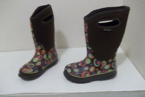 0f199a108 GIRLS BOGS CLASSIC HIGH BUBBLES -30° WATERPROOF SNOW WINTER BOOTS SZ ...