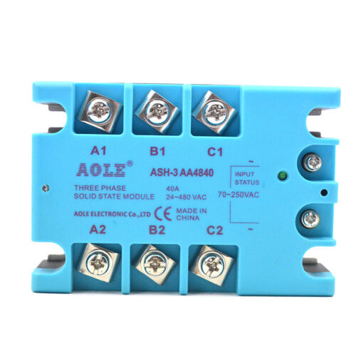 TSR-40AA Three Phase Solid State Relay Module AC 80-280VAC to 480VAC 40A