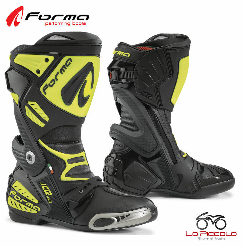 FORV220 Boots Yellow Forma Ice Road Pro Racing Driving Track Motorcycle Size 46