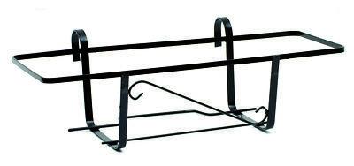 fioriera da balcone in ferro battuto mod Napoli 50 cm nero esterno vasi
