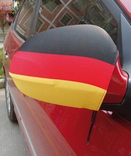 Deutschlandfahne für Autospiegel, 35x32 cm, Auto Spiegel Flagge Fußball