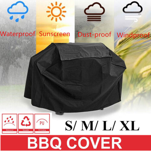 SML//XL BBQ Cover Heavy Duty Waterproof Rain Gas Barbeque Grill Garden Protector