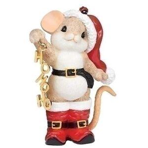 Charming Tails Christmas 2020 Charming Tails Christmas Mouse In Santa Boots Ho Ho Ho New 2020