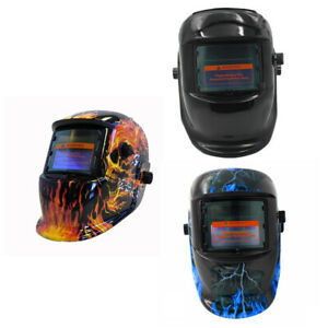 Pro Solar Powered Auto Darkening Weld Helmet Arc Tig Mig Grinding Welder Mask BI