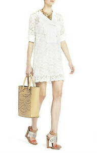 NEW-BCBG-MAX-AZRIA-OFF-WHITE-LUNAH-LACE-TUNIC-WITH-CONTRAST-BIB-NEQ6V705-SIZE-S