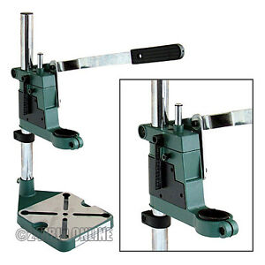 PLUNGE-POWER-DRILL-PRESS-STAND-with-DEPTH-GAUGE-BENCH-PILLAR-PEDESTAL-CLAMP