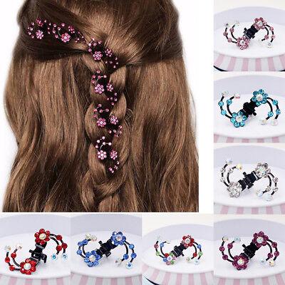 Mädchen Haarspangen Kunststoff Gum für Haare Pferdeschwanz Schnalle Halter B8E5