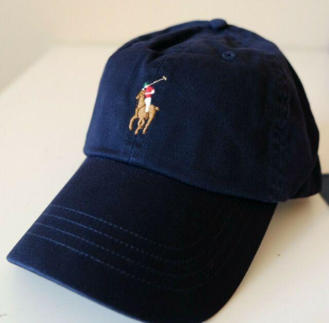 fae77c306 Polo Ralph Lauren 6 Panel Chino Hat Cotton Relay Navy Blue Sports ...