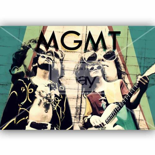 Custom Silk Poster Wall Decor MGMT Band