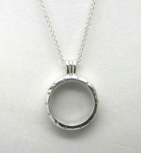 Authentic pandora floating locket medium sterling silver necklace authentic pandora 590529 60 floating locket necklace medium aloadofball Choice Image