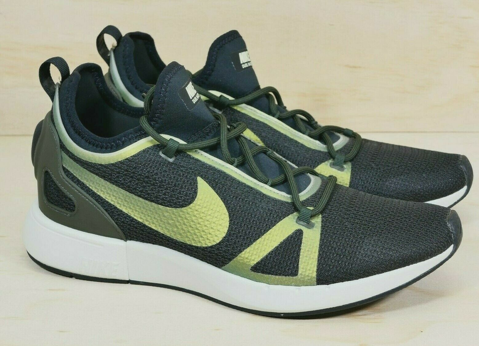 online store 57e63 28619 Nike Duel Duel Duel Racer Athletic Black Olive White Mens Size 11 M shoes  918228-