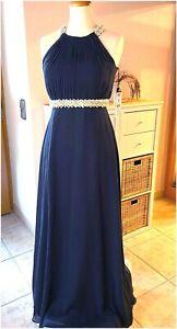 VERA MONT Abendkleid Abi Abschlussball Kleid Perlen Blau ...