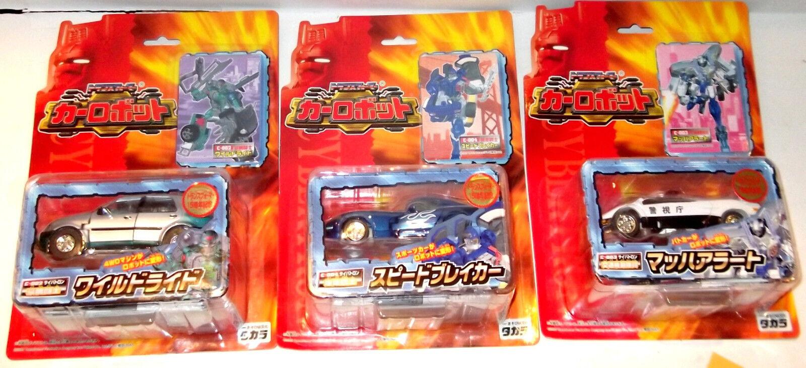 LOT Transformers RID CAR ROBOTS TAKARA brawn side burn prowl C002 C003 C-004 NEW