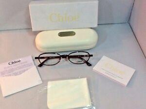 Chloe-Women-039-s-Eyeglass-Frames-CL1213-CO3-53-18-140-Burgandy-Case-Cloth