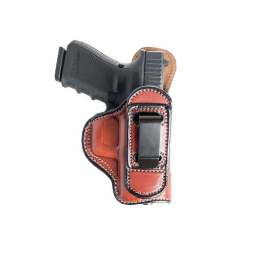 TUCKABLE INSIDE THE WAISTBAND LEATHER HOLSTER FOR S/&W BODYGUARD 380.