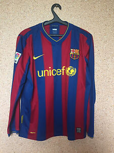 uk availability db9c2 3802b Details about BARCELONA SPAIN 2009/10 HOME FOOTBALL SHIRT JERSEY CAMISETA  LONG SLEEVE NIKE #4