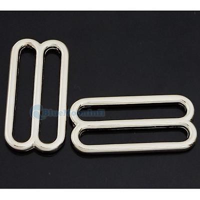 """Widemouth Metal Round Triglides Webbing Slides 4 Leather Strap 1.5"""" 38mm C535-F3"""