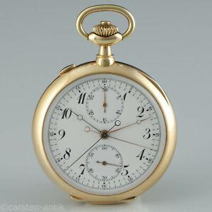 20-Sandoz-a-Paris-1910-Praesenttaschenuhr-mit-Split-Second-chronograph-18k-Gold