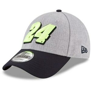 New-Era-William-Byron-Heather-Gray-Navy-Driver-Number-9FORTY-Snapback-Adjustable