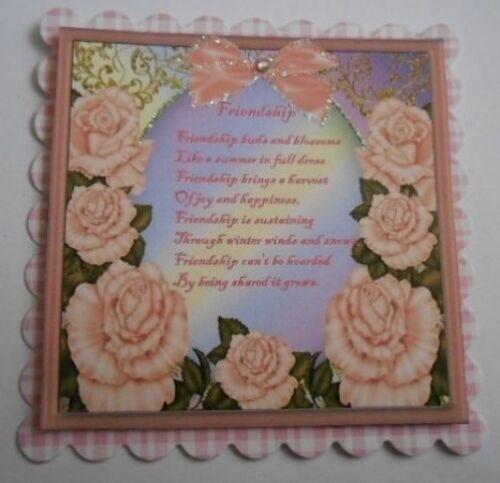 Pack 2 amistad poema ADORNO TOPPERS PARA TARJETAS Y MANUALIDADES