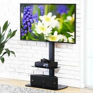 Image Is Loading Tv Stand With Swinging Mount Storage Holder Modern