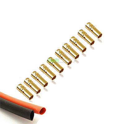 10 Femmina Rc 3.5mm Oro Bullet Connettori Inc Calore Strizzacervelli Per Motore Esc Uk-mostra Il Titolo Originale Tempi Puntuali