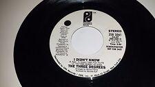 "THE THREE DEGREES I Didn't Know PHILADELPHIA INTERNATIONAL 3561 PROMO 45 7"""