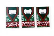 [3-Pack] Samuel Adams Holiday Festive Steel Credit Card Wallet Bottle Opener
