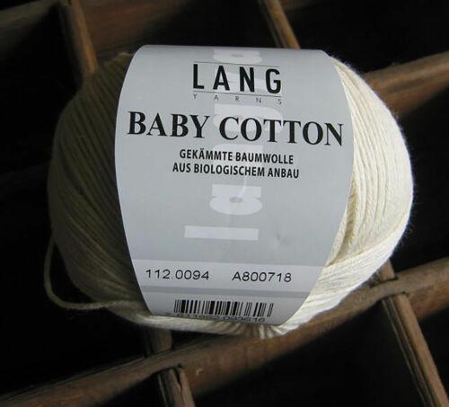 Baby Cotton-fina langstablige algodón de cultivo biológico de langyarns