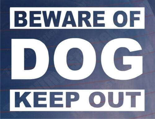 BEWARE OF DOG KEEP OUT House//Home Window//Door//Porch Vinyl Sign//Sticker