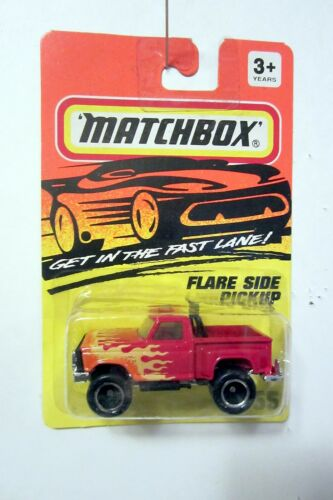 1994 MATCHBOX  #55 Red FLARESIDE PICKUP TRUCK w// Awesome Flames on Hood /& Sides