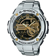 New Casio G-Shock G-Steel Tough Solar Stainless Steel Men's Watch GST210D-9A