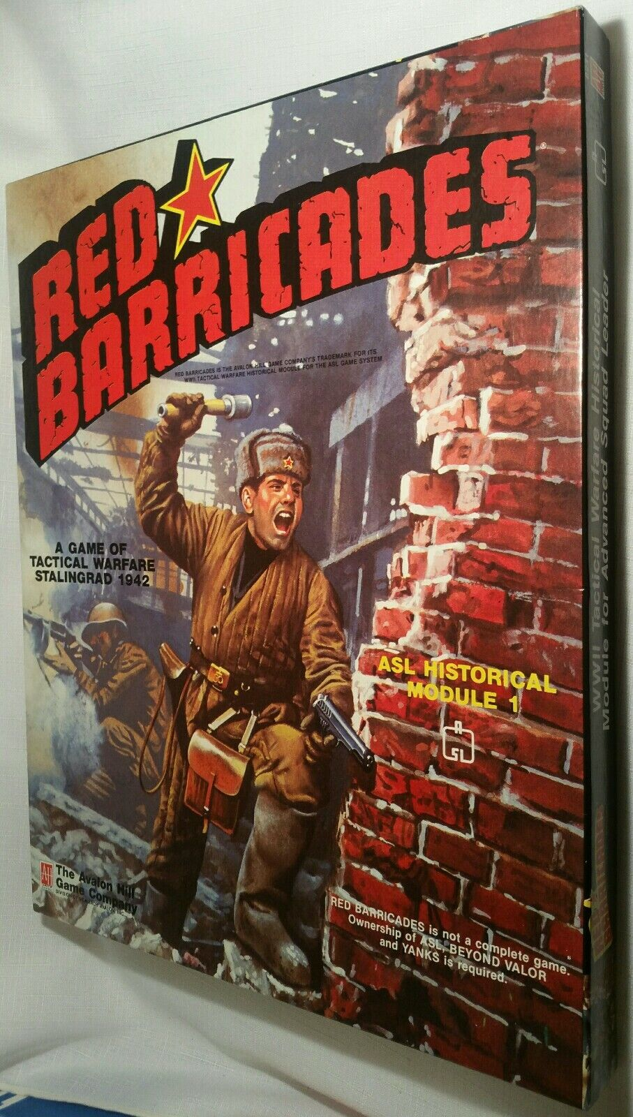 Avalon Hill rot Barricades 1989 UNPUNCHED Complete
