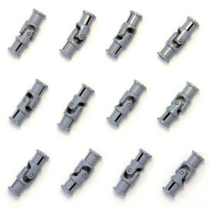Lego-12x-Genuine-Technic-Grey-Universal-Joint-Propeller-Shaft-61903-4525904-NEW