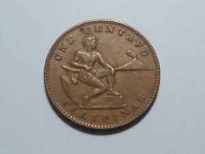 PHILIPPINES U.S. ADMINISTRATION 1944 ONE CENTAVO